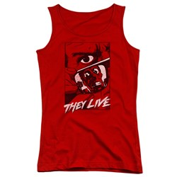 They Live - Juniors Graphic Poster Tank Top