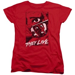 They Live - Womens Graphic Poster T-Shirt