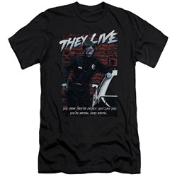 They Live - Mens Dead Wrong Slim Fit T-Shirt