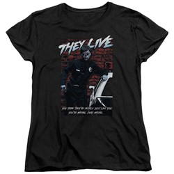 They Live - Womens Dead Wrong T-Shirt