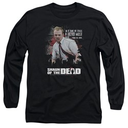 Shaun Of The Dead - Mens Hero Must Rise Long Sleeve T-Shirt