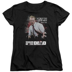 Shaun Of The Dead - Womens Hero Must Rise T-Shirt