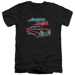 American Grafitti - Mens Neon V-Neck T-Shirt
