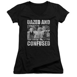 Dazed And Confused - Womens Rock On V-Neck T-Shirt