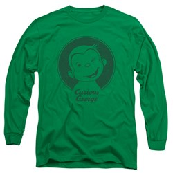 Curious George - Mens Classic Wink Long Sleeve T-Shirt