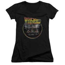 Back To The Future - Womens Back V-Neck T-Shirt