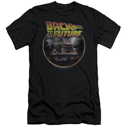 Back To The Future - Mens Back Slim Fit T-Shirt