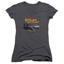 Back To The Future - Womens Time Machine V-Neck T-Shirt