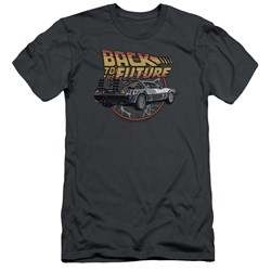 Back To The Future - Mens Time Machine Slim Fit T-Shirt
