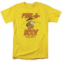 Curious George - Mens Peek A Boo T-Shirt