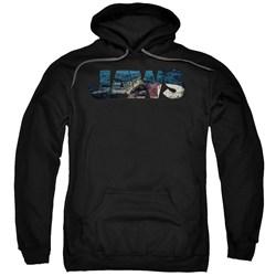 Jaws - Mens Logo Cutout Pullover Hoodie