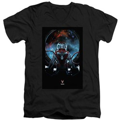 Divinity - Mens Cover Front / Back Print V-Neck T-Shirt