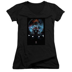 Divinity - Womens Cover Front / Back Print V-Neck T-Shirt