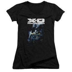 Xo Manowar - Womens By The Sword V-Neck T-Shirt