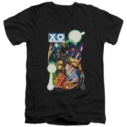 Xo Manowar - Mens Vintage Xo V-Neck T-Shirt