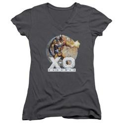 Xo Manowar - Womens Vintage Manowar V-Neck T-Shirt