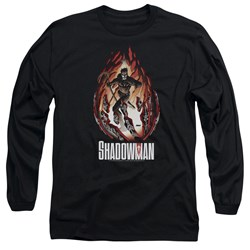 Shadowman - Mens Burst Long Sleeve T-Shirt