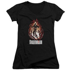 Shadowman - Womens Burst V-Neck T-Shirt