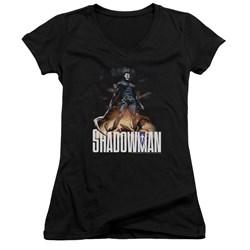 Shadowman - Womens Shadow Victory V-Neck T-Shirt