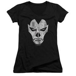 Shadowman - Womens Face V-Neck T-Shirt