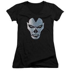 Shadowman - Womens Comic Face V-Neck T-Shirt