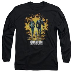 Quantum And Woody - Mens Explosion Long Sleeve T-Shirt