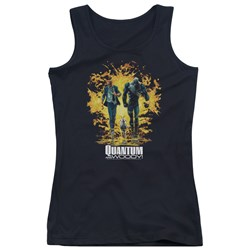Quantum And Woody - Juniors Explosion Tank Top