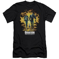 Quantum And Woody - Mens Explosion Slim Fit T-Shirt