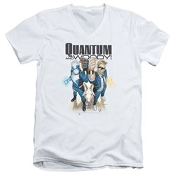 Quantum And Woody - Mens Quantum And Woody V-Neck T-Shirt