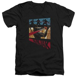 Ninjak - Mens Panel V-Neck T-Shirt