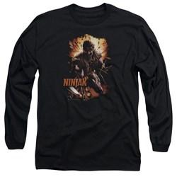 Ninjak - Mens Fiery Ninjak Long Sleeve T-Shirt