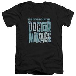 Doctor Mirage - Mens Character Logo V-Neck T-Shirt