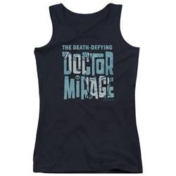 Doctor Mirage - Juniors Character Logo Tank Top