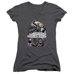 Archer & Armstrong - Womens Dropping In V-Neck T-Shirt