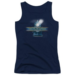 Polar Express - Juniors Train Logo Tank Top