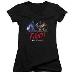 Mortal Kombat - Womens Fight V-Neck T-Shirt