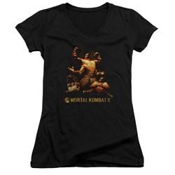 Mortal Kombat - Womens Goro V-Neck T-Shirt