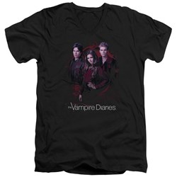 Vampire Diaries - Mens Company Of Three V-Neck T-Shirt
