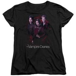 Vampire Diaries - Womens Company Of Three T-Shirt