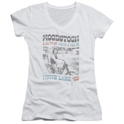 Woodstock - Womens Rider V-Neck T-Shirt