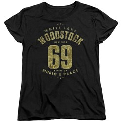 Woodstock - Womens White Lake T-Shirt