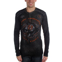 Affliction - Mens Ac Warpath Longsleeve Therm Henley