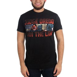 2000 AD - Mens Judge Dredd I Am The Law T-Shirt