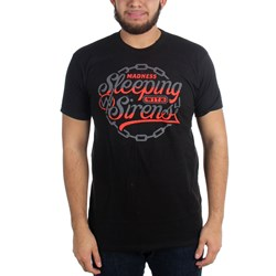 Sleeping With Sirens - Mens Red Chain Logo T-Shirt