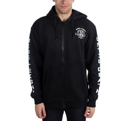 Rebel8 - Mens Until Death Zip Hoodie
