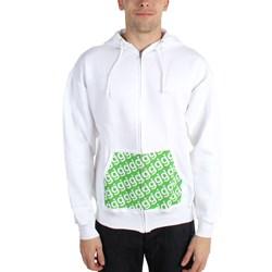 Glassjaw - Mens Pocket Print White Zip Hoodie