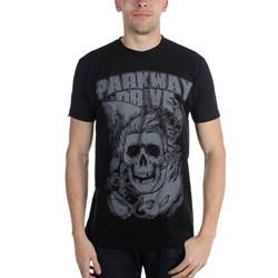Parkway Drive - Mens Surfer Skull Black T-Shirt