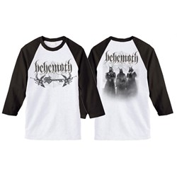 Behemoth - Mens Band Logo White Black Raglan T-Shirt