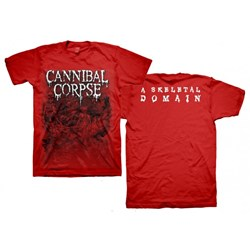 Cannibal Corpse - Mens Skeletons Red T-Shirt