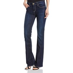 True Religion - Womens Becca Mid Rise W/ Flaps Bootcut Jeans